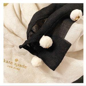 Kate Spade - 'On Purpose' Pom Pom Scarf